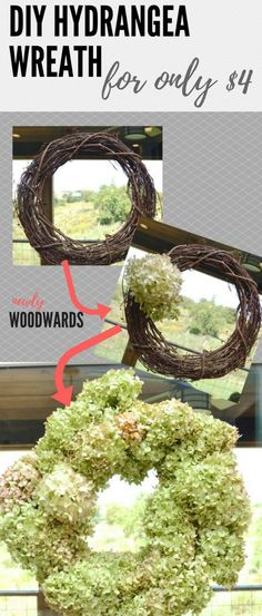 Make a DIY hydrangea wreath