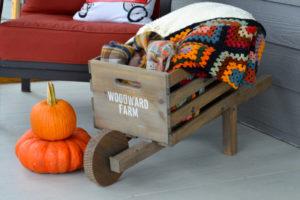 Make a personalized rustic wheelbarrow