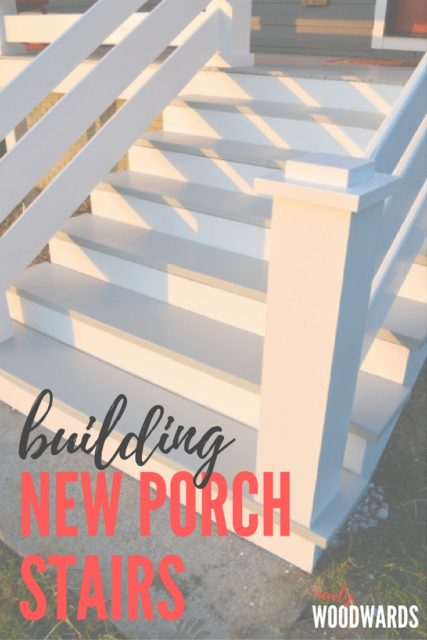 Building new stairs on the front porch