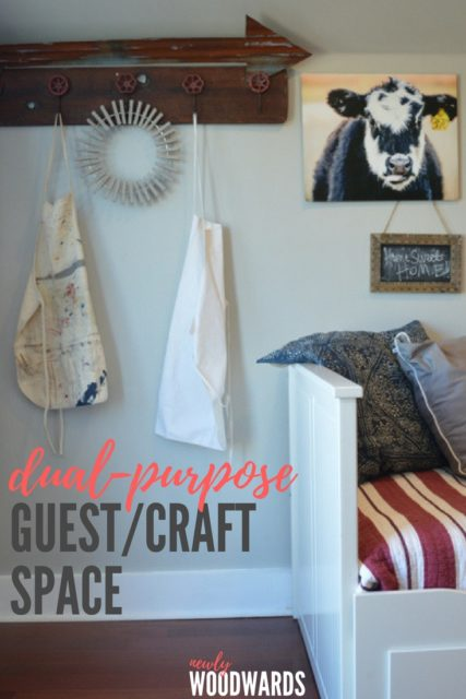 dual purpose guest and craft space (in a barn)