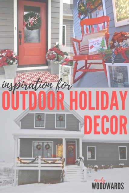 Inspiration for outdoor holiday decor - without getting on a ladder. Lots of great ideas for festive curb appeal.