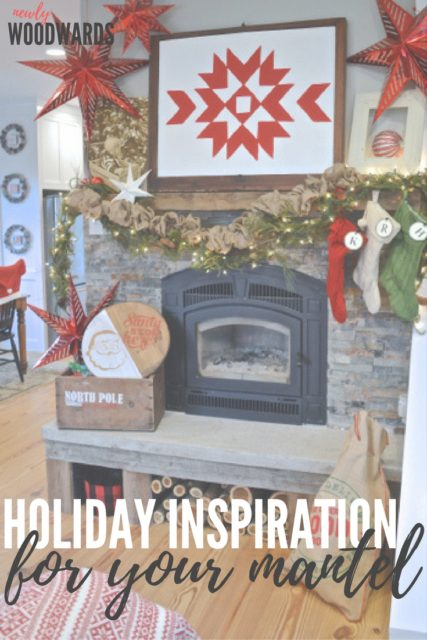 Lots of inspiration for your Christmas fireplace mantel
