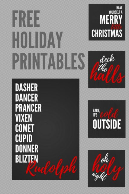 Free holiday printable downloads