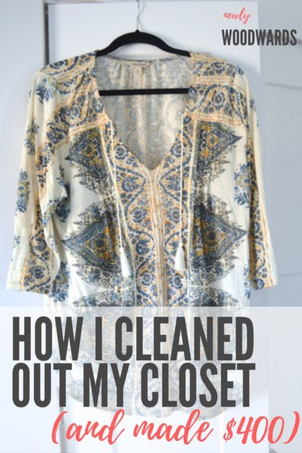 How I cleaned my closet and made $400