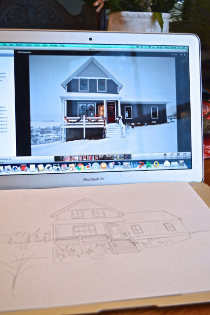 how to draw your house - the cheater way2