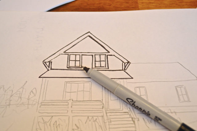 how to draw your house - the cheater way4