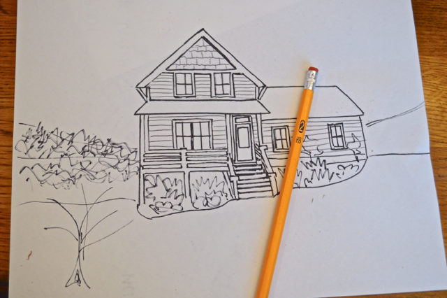 how to draw your house - the cheater way5