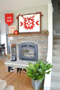 Valentine's Day decor inspiration – the fireplace mantel