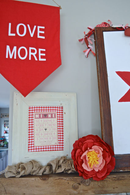 Love More Valentine's Day mantel5