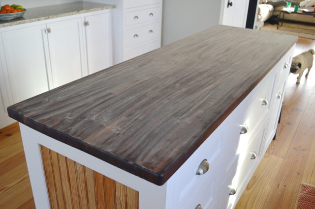 adding countertop reclaimed lane along trim wood sealer countertops averie diy boards edge