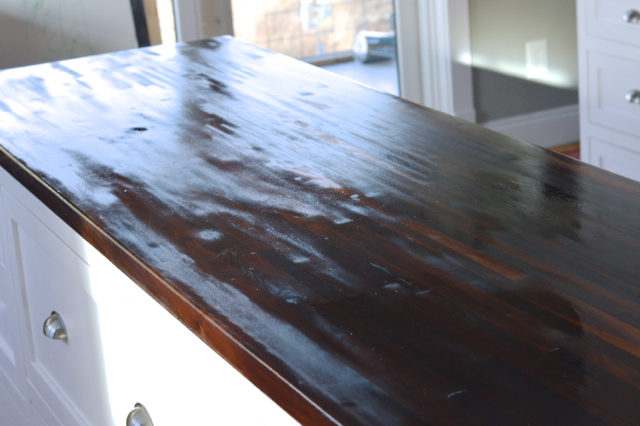 Tung oil is a food safe sealer - and it's easy and nontoxic to apply to your butcher block island.