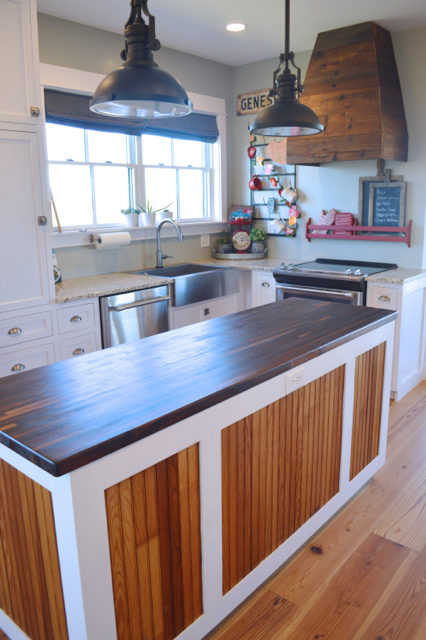 Wood tones look rich and smooth with a pure tung oil finish - and it's a food safe wood finish for your kitchen.