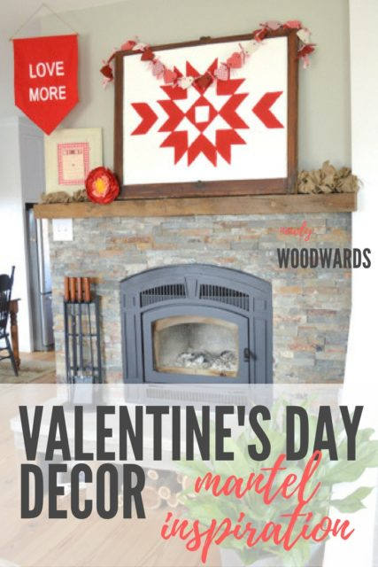 Valentine's Day decor - mantel inspiration