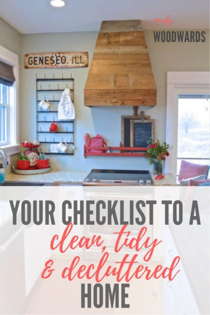 Your checklist to a clean, tidy and decluttered home
