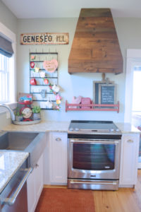 Barn wood range hood cover – the finishing touch