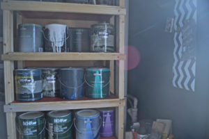 DIY paint supply storage