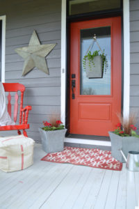 Sprucing up the front porch for spring