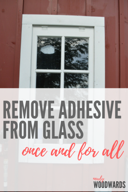creative home hacks removing adhesive from glass once and for all newlywoodwards. Black Bedroom Furniture Sets. Home Design Ideas