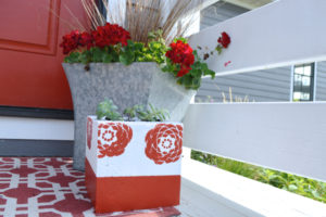 Make a DIY planter from a concrete block