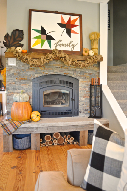 Diy Maple Leaf Barn Quilt Fall Mantel Inspiration