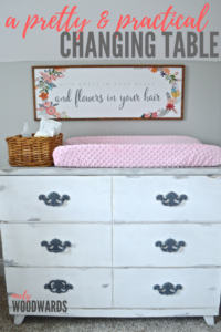 A pretty and practical changing table