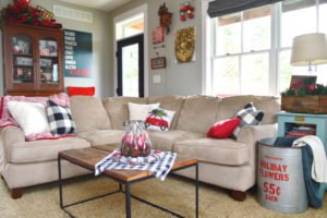 Christmas home tour | A playfully modern living room