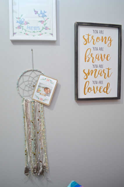 Turn birth announcements into wall decor