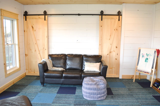 Ideas for multipurpose rooms - organization and design ideas in the basement