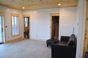 DIY shiplap walls and farmhouse trim