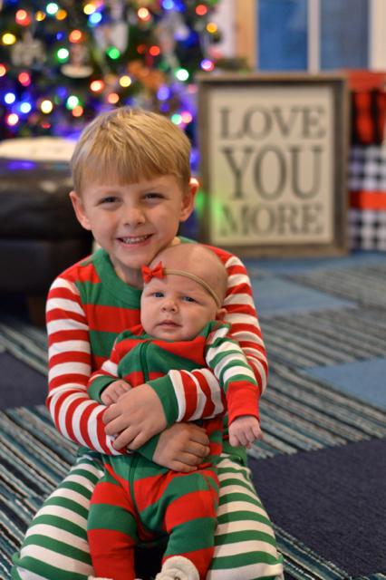 Matching Hanna Anderson pajamas for Christmas