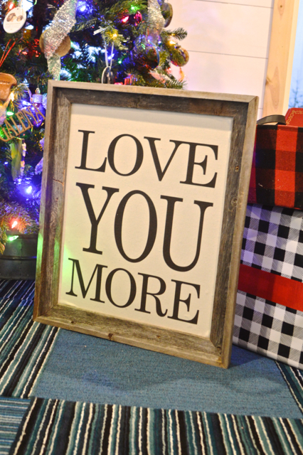 LOVE YOU MORE sign | Amazon Handmade