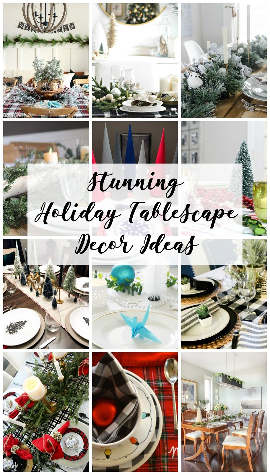 Stunning holiday tablescape decor ideas - lots of inspiration for your Christmas table