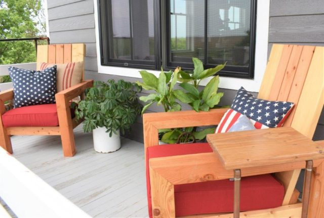 Diy Outdoor Chairs For The Porch Newlywoodwards