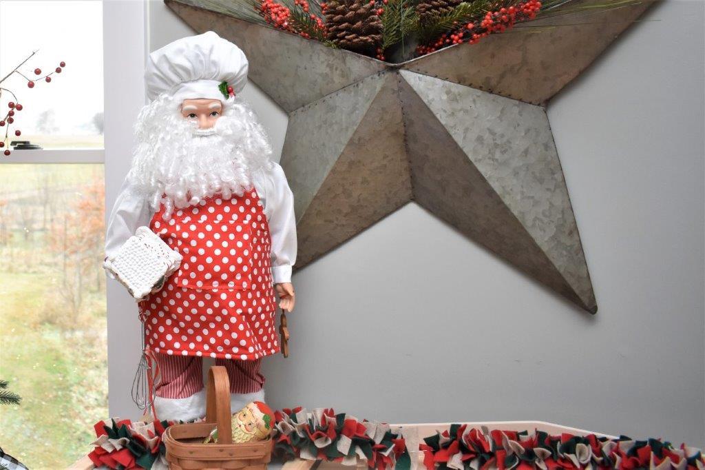 Santa decor in the kids kitchen